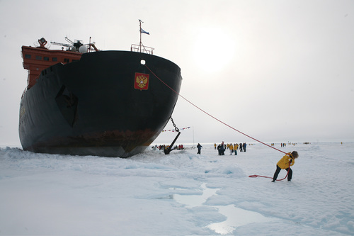The long haul to 90 N - the top of the world with Quark Expeditions of Vermont, CT. 50 Years of Victory, a ...