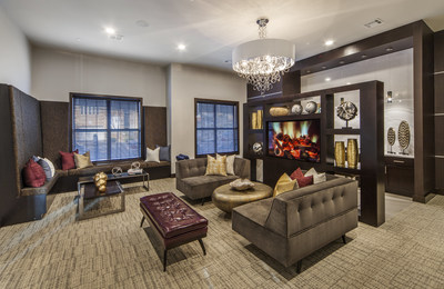 Amenities are provided at no additional monthly cost and include a Residents' Lounge with its own Starbucks machine, Rooftop Terrace for social gatherings, and 24-hour Fitness Center with Life Fitness equipment.