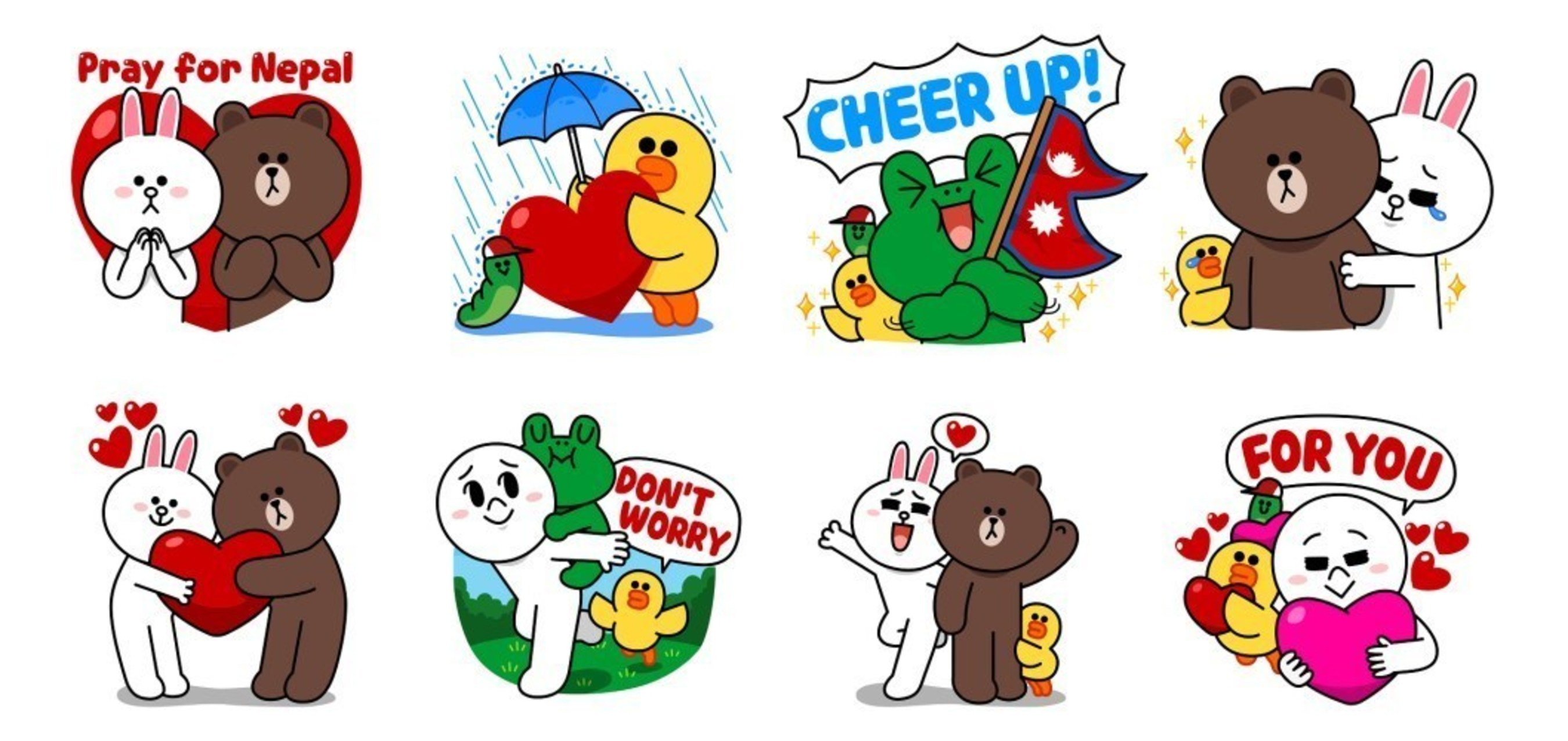 """LINE Releases Charity Stickers """"Pray for Nepal"""" Worldwide to Aid Victims of Nepal Earthquake"""