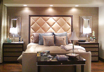Las Vegas Interior Designer Patty Goorjian Created This Serene Bedroom Reminiscent Of A Boutique Hotel By