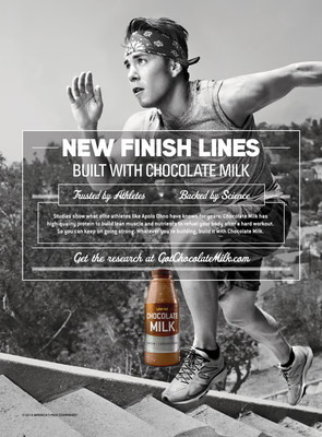 Short-Track Speedskating Legend Apolo Ohno Reaches Halfway Point in Life Changing Journey That Is BUILT WITH CHOCOLATE MILK(TM) (PRNewsFoto/Milk Processor Education Program)