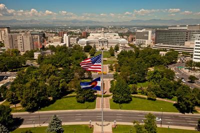 """Denver's Civic Center Designated a National Historic Landmark. The """"Heart of Denver"""" becomes a nationally recognized Civic Center.  (PRNewsFoto/History Colorado)"""