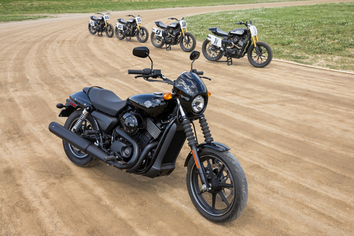 The new Harley-Davidson Street(TM) 750 motorcycle (forefront) makes its X Games Austin debut just weeks before ...