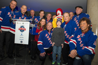 Ranger Alumni and members of the Ronald McDonald House at the 20th annual Skate with the Greats event in New York City. (PRNewsFoto/Ronald McDonald House New York) (PRNewsFoto/RONALD MCDONALD HOUSE NEW YORK)