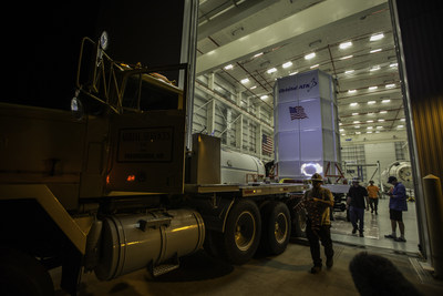 Orbital ATK's Cygnus spacecraft arrived at the Horizontal Integration Facility at NASA's Wallops Flight Facility in Virginia for mating with the Antares rocket in preparation for its Oct. 13, 2016 launch. Dubbed the S.S. Alan Poindexter, in tribute to a space shuttle veteran, this Cygnus spacecraft will carry about 5,100 pounds of cargo to the International Space Station. CREDIT: NASA