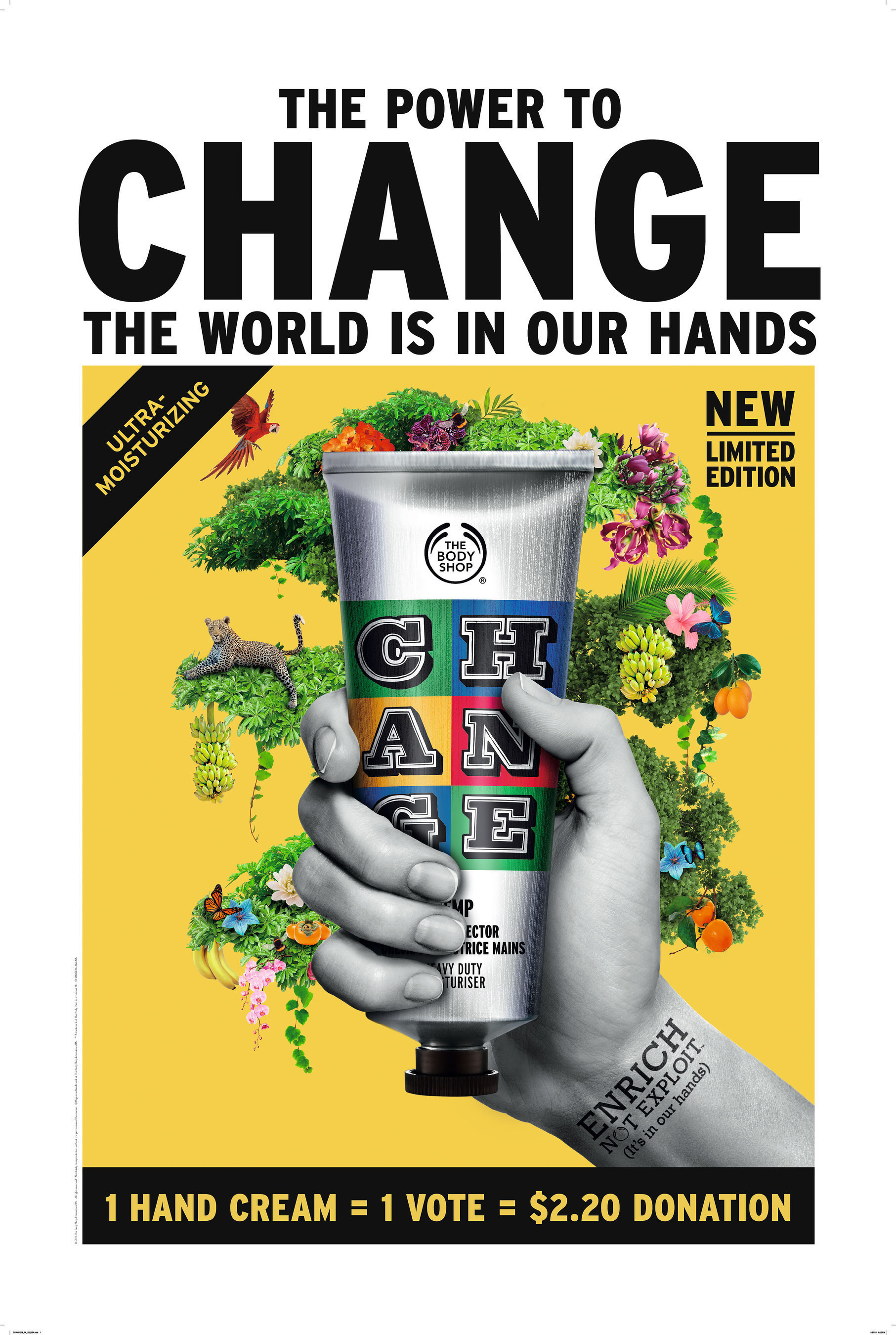 The Body Shop Celebrates New Enrichnotexploit Commitment With Limited Edition Hemp Hand Protector By Street Artist Ben Eine