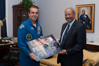 Congressman Fattah meets with NASA Astronaut Rick Mastracchio on September 16, 2014. (PRNewsFoto/Office of Congressman Fattah)