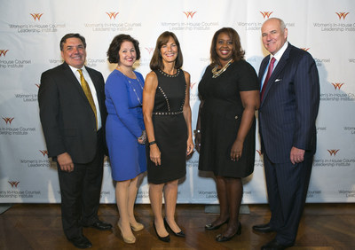 Pictured above, from left to right, is: Thomas J Sabatino, Jr., Executive Vice President Law & Regulatory Affairs,  General Counsel - Aetna, Inc.; and Horizon Awards recipients Sloane S. Perras, Vice President, Chief Legal Officer  - The Krystal(R) Company; Christine Edwards, Capital Partner - Winston & Strawn LLP; Juliette Pryor, Executive Vice President, General Counsel & Chief Compliance Officer - US Foods; Craig Glidden, General Counsel & Executive Vice President Law & Public Policy - General Motors.