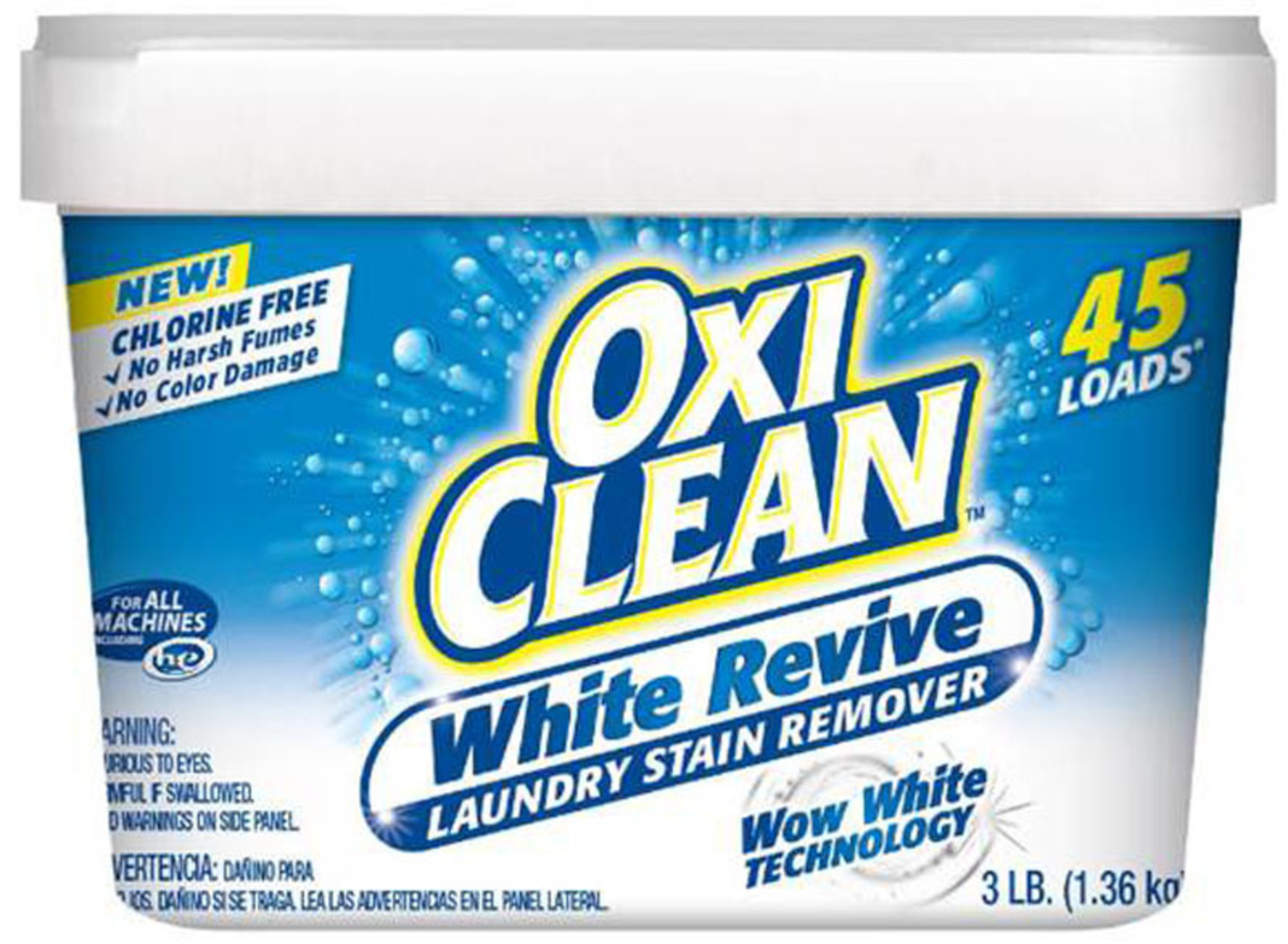 NEW OxiClean White Revive Laundry Stain Remover. (PRNewsFoto/CHURCH _ DWIGHT CO__ INC_)