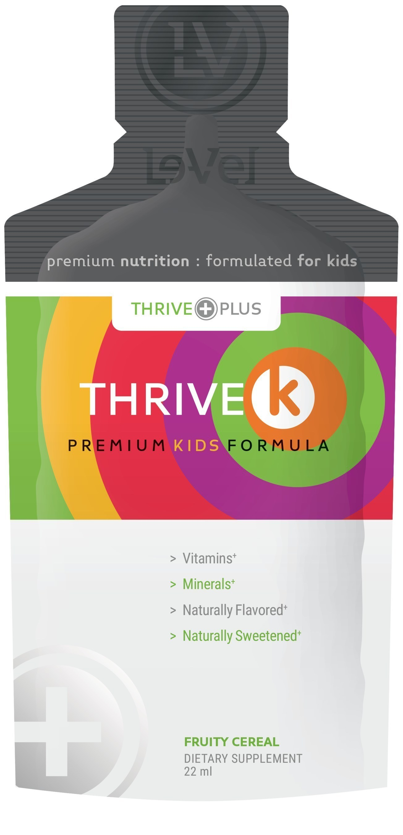 THRIVE K for Kids, a new great-tasting proprietary children's multivitamin and mineral blend in an easily consumable gel form.