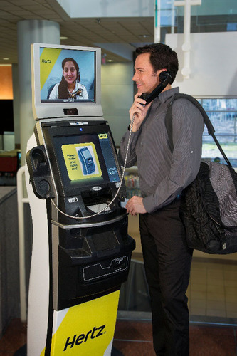 HERTZ EXPRESSRENT(TM) KIOSKS NOW IN 55 NYC LOCATIONS Giving Customers the Opportunity to Virtually Rent at a Nearby Location.  (PRNewsFoto/The Hertz Corporation)
