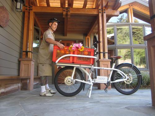 NTS Works 2x4 Electric Cargo Bike - Produce Delivery.  (PRNewsFoto/NTS Works)