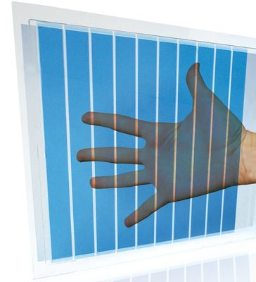 Heliatek sets new efficiency record at 7.2% for 40% light transparency organic solar cell making it perfect for turning windows into photovoltaic harvesters. (PRNewsFoto/Heliatek GmbH)