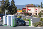 NRG eVgo's Freedom Station fast charger debuts at Nob Hill in Mountain View. (PRNewsFoto/Raley's Family of Fine Stores)