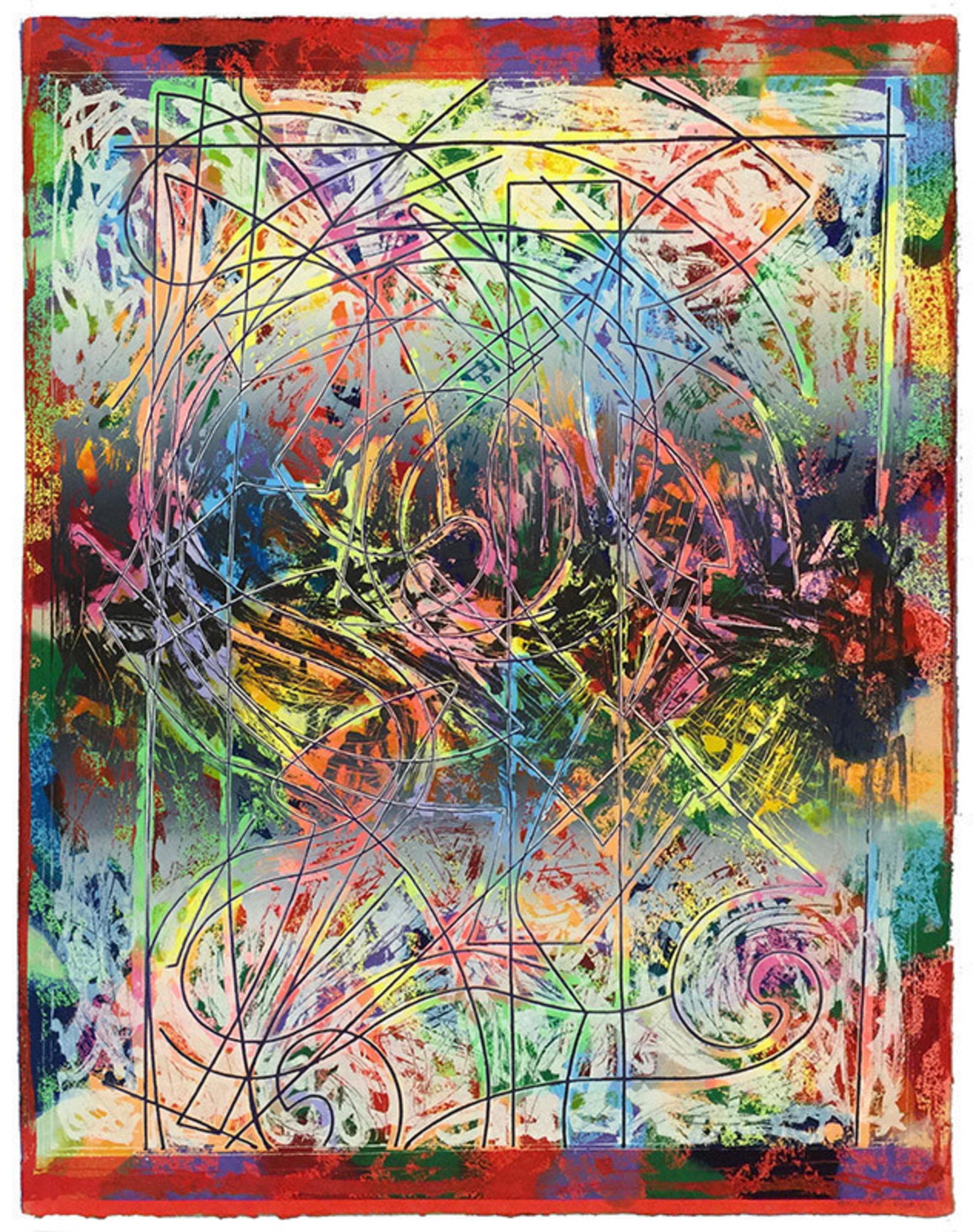 "Exhibiting at Art Miami, Jonathan Novak Contemporary Art - Frank Stella, ""Talladega Three II"",  editioned work, 1982."