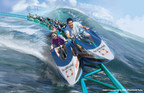 Wave Breaker: The Rescue Coaster(TM) will debut at SeaWorld San Antonio, summer 2017.  The unique jet ski-style car design, the first in North America, engages riders in a straddled seating position. Riders lean into a series of banked turns, racing over hills for maximum airtime and two high acceleration launches. Inspired by the Emmy(R) award-winning program, Sea Rescue(R), the coaster enables riders to feel what it's like to race alongside SeaWorld's heroic animal care team as they spring into action at a moment's notice to help rescue animals in distress.  Credit: Artist Concept Only - 2016 (C)SeaWorld Parks