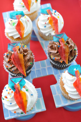 Easy Father's Day Tie Cupcakes #BakeryBecause