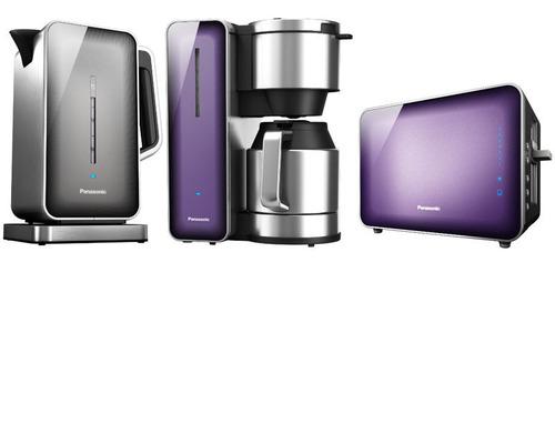 Panasonic NC-ZK1 Kettle, Panasonic NC-ZF1 Coffee Maker and Panasonic NT-ZP1 Toaster.  (PRNewsFoto/Panasonic)
