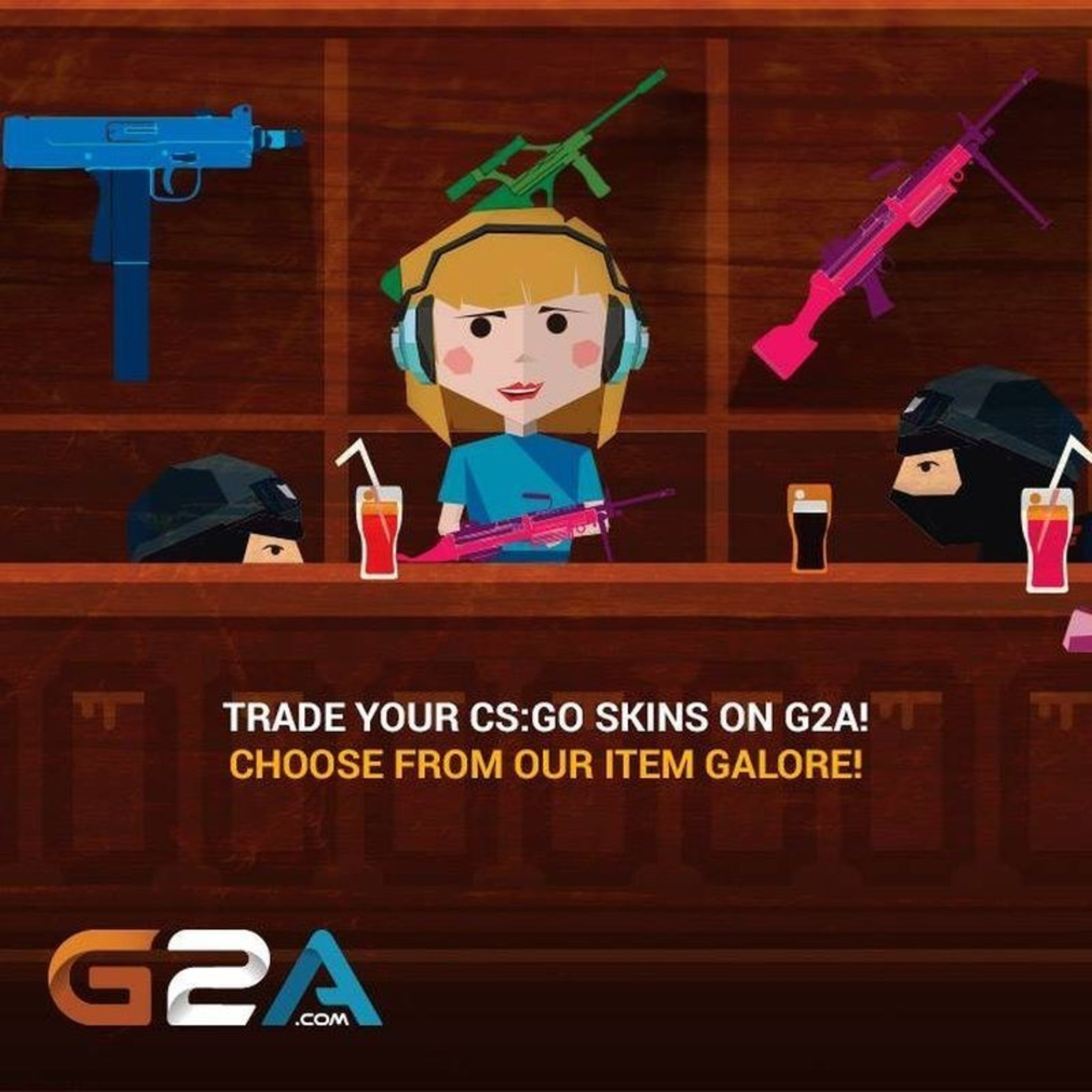 Trade Your CS:GO Skins on G2A! Choose From Our Item Galore! (PRNewsFoto/G2A.com) (PRNewsFoto/G2A.com)