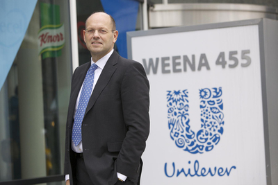 Leo Oosterveer, CEO of Unilever Food Solutions, and winner of the 2014 Augie Leadership Award for Sustainability and Food Ethics from the Culinary Institute of America. (PRNewsFoto/Unilever Food Solutions )