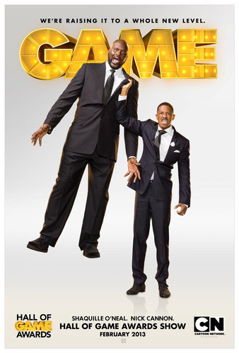 SHAQUILLE O'NEAL AND NICK CANNON TO HOST CARTOON NETWORK'S HALL OF GAME AWARDS.  (PRNewsFoto/Cartoon Network)