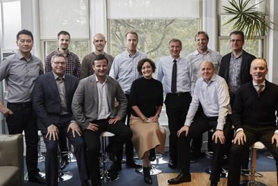 Top row, left to right: Jin Ha (CEO, Eventum), Bjornar Skog (Eventum) , Dag Liodden (Tapad), Patrik Beglund (CEO, Xeneta), Jon Erik Reinhardsen (Telenor board member), Tom Christian Gotschalksen (Tapad), Sigvart Eriksen (Telenor) Bottom Row, left to right: Kim Hindsgaul (Bubbly), Are Traasdahl (CEO, Tapad), Marianne Haugland Hindsgaul (CEO, Bubbly), Sigve Brekke (President and CEO, Telenor Group), Matthew Kearney (Tapad board member)