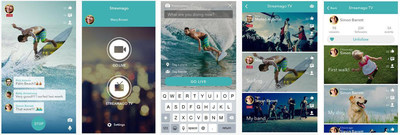 Streamago is the live streaming app for iOS  that, for the first time ever, makes it possible to broadcast live video and audio on your Facebook profile and on your fanpages thus enriching social communication with new powerful tools. With the new 2.0 version, Streamago adds an important new feature, the Streamago TV, a window to the world to interact in real-time with videos from Streamago network and from your Facebook friends' and pages. (PRNewsFoto/Tiscali)