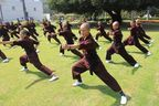 PR Newswire India - Drukpa Nuns giving a Kung Fu demonstration