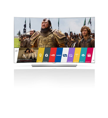 "LG EG9600 4K UHD OLED Smart TV featuring webOS 2.0 is among the industry's first to be designated ""Netflix Recommended TV."""