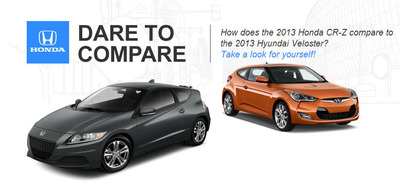 The 2013 Honda CR-Z is the style and substance of the subcompact class.  (PRNewsFoto/Spreen Honda)