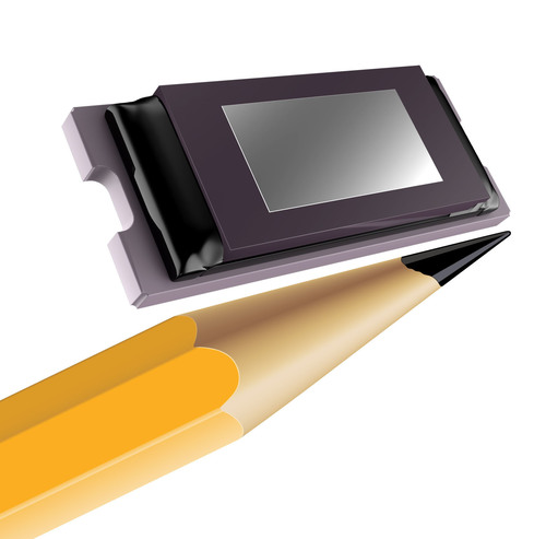 "Texas Instruments' 0.3"" HD Tilt & Roll Pixel (TRP) DLP Pico chipset, announced at Mobile World Congress (MWC) 2014. (PRNewsFoto/Texas Instruments) (PRNewsFoto/TEXAS INSTRUMENTS)"