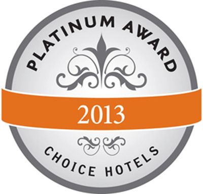 Choice Hotels International 2014 Platinum Award.  (PRNewsFoto/Choice Hotels International, Inc.)