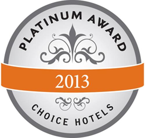 Choice Hotels International 2014 Platinum Award.  (PRNewsFoto/Choice Hotels International, Inc.)