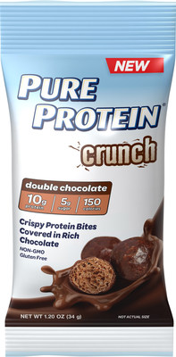 New Pure Protein Crunch in rich double chocolate