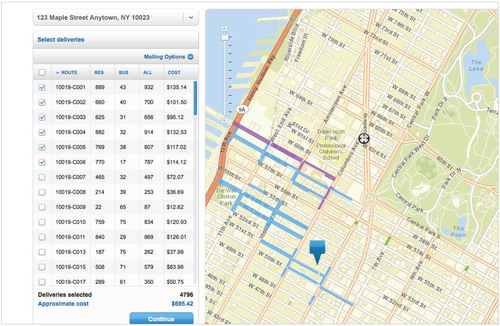 Every Door Direct Mail's new online mapping tool helps small businesses market to customers without address  ...