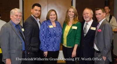 In addition to an extensive legal support team, the Eberstein Witherite Fort Worth office is home to firm partners Amy Witherite and Brian Eberstein, along with attorneys Gary Don Parish, Christopher Stoy and Susan Hutchison. (PRNewsFoto/Eberstein & Witherite 1800 Car W)