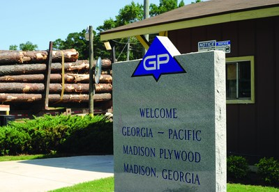 Georgia-Pacific is investing in its Madison, Georgia, plywood operations with recent and planned investments expected to total $65 million. (PRNewsFoto/Georgia-Pacific)