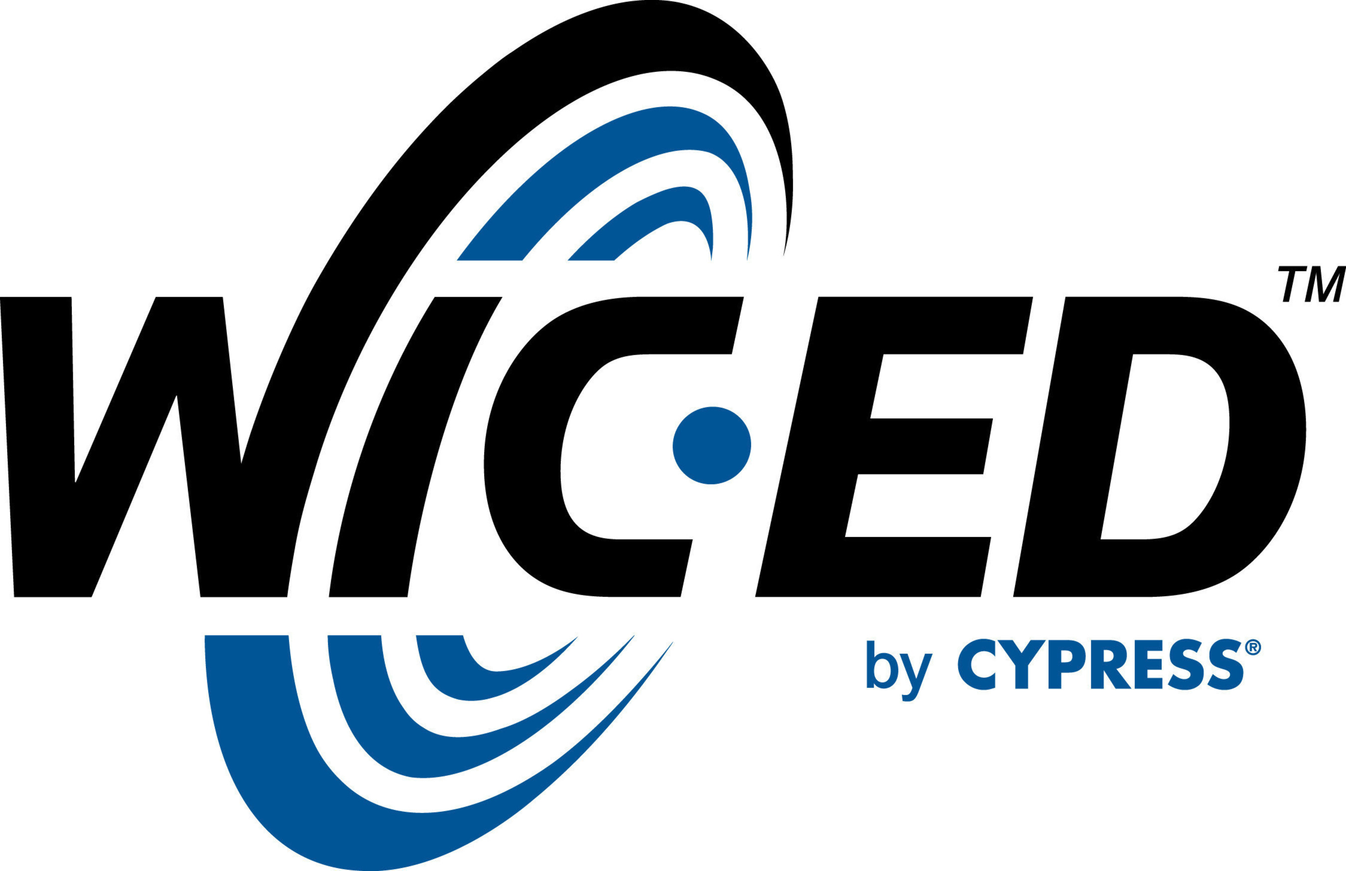 Pictured is the logo for WICED, the wireless radio software development kit, ecosystem and developer community that Cypress Semiconductor acquired from Broadcom.