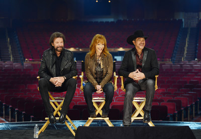 Ronnie Dunn, Reba and Kix Brooks announce their new residency, REBA, BROOKS & DUNN: Together in Vegas, at The Colosseum at Caesars Palace on Wednesday, Dec. 3. Photo Credit: Denise Truscello