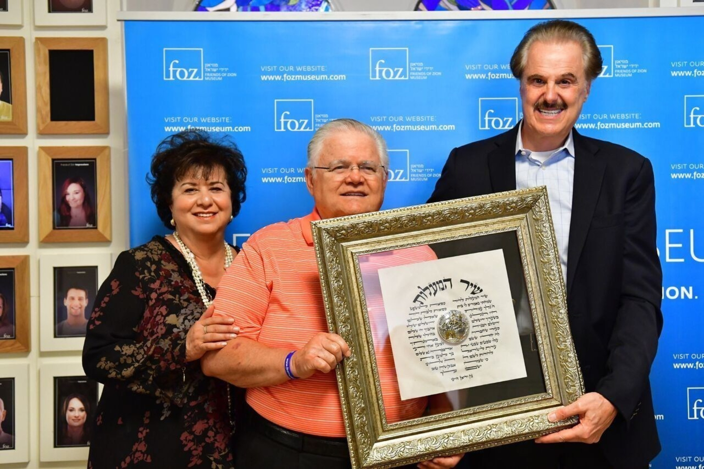Pastor John Hagee Receives the Friend of Zion Friendship Medallion on his Recent Trip to Jerusalem