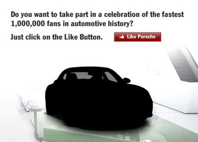 Porsche Reaches One Millon Fans on Facebook.  (PRNewsFoto/Porsche Cars North America, Inc.)