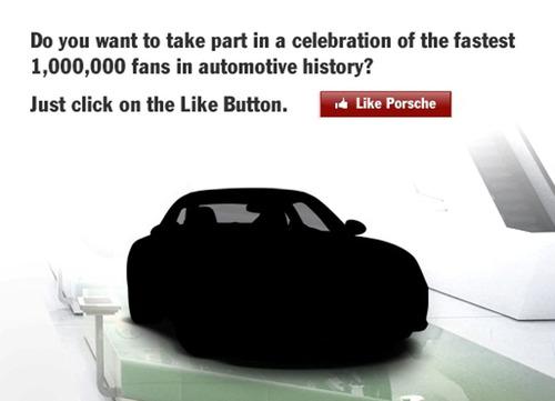 Porsche Reaches One Million Fans on Facebook