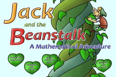 Jack and the Beanstalk a Mathematical Adventure - Math App.  (PRNewsFoto/MathFileFolderGames.com)