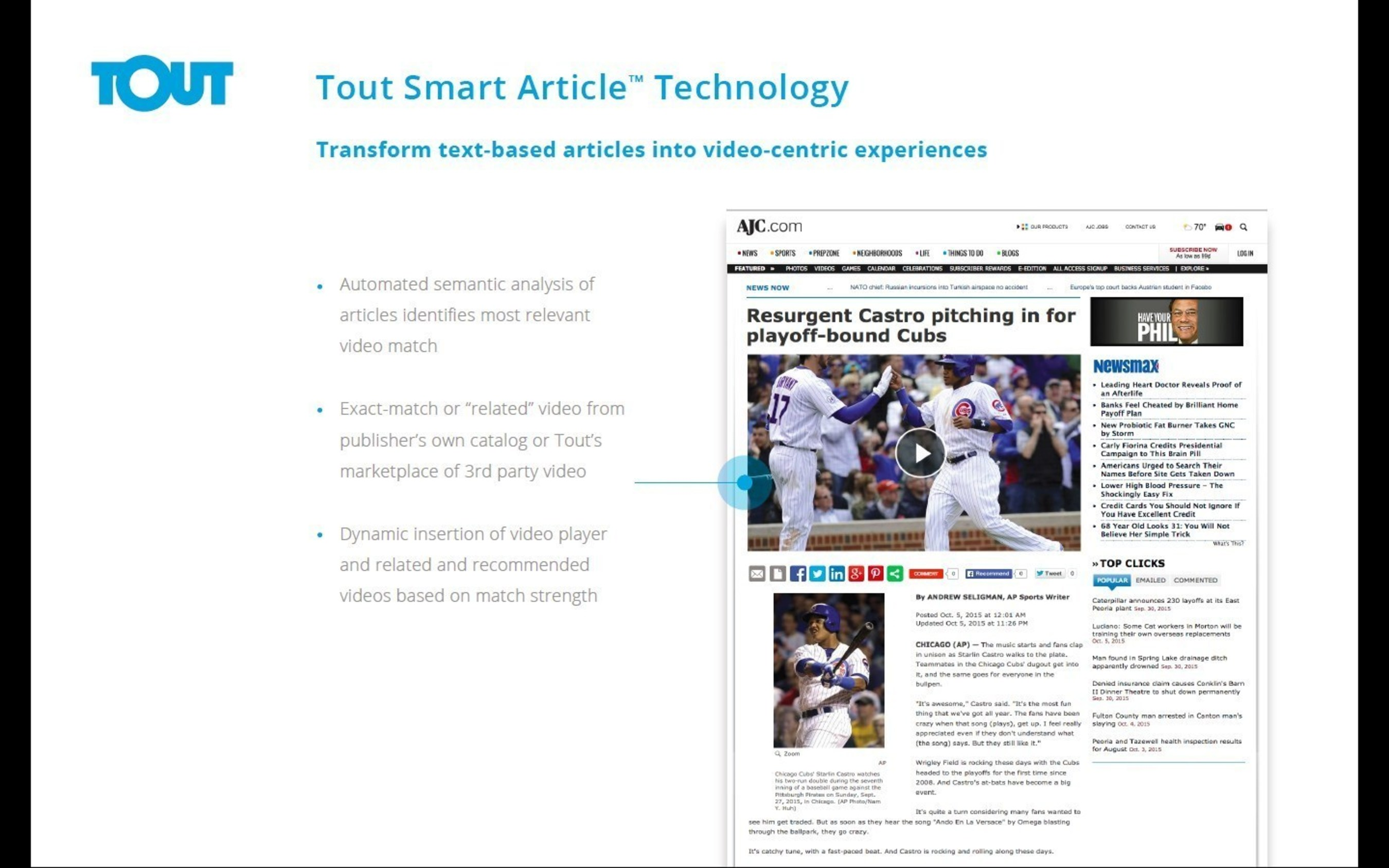 Tout Patented Video-to-Article Matching Methodology