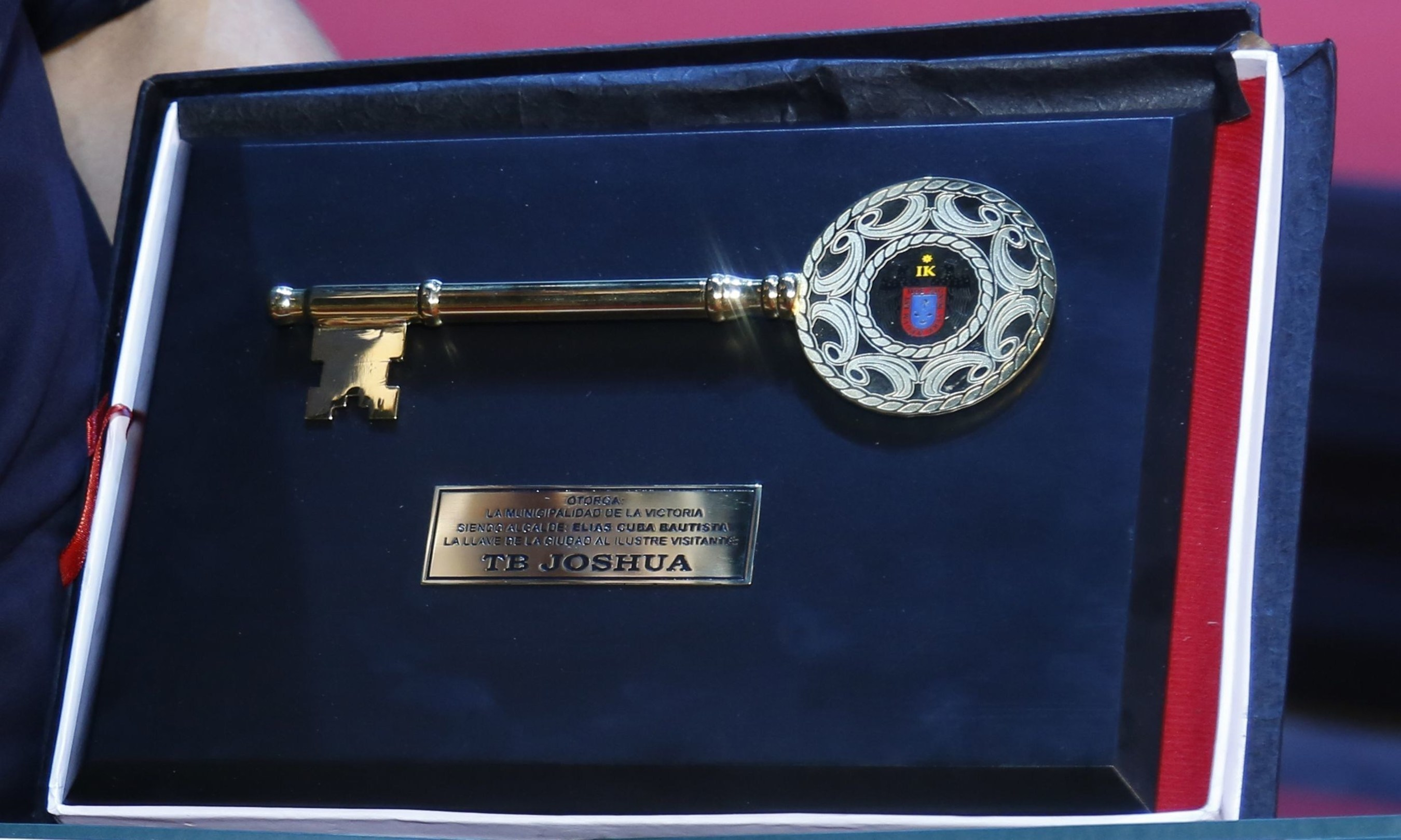 The Key of the City of Lima that T.B. Joshua was honoured with. (PRNewsFoto/Emmanuel TV)