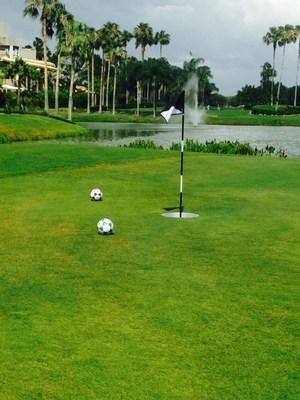 Orlando World Center Marriott now offers guests of all ages and skill levels the opportunity to play the exciting new sport of foot golf on the resort's award-winning Hawk's Landing Course. For information or to book a reservation, visit www.WorldCenterMarriott.com or call 1-800-380-7931.
