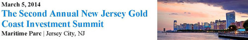 The Second Annual New Jersey Gold Coast Investment Summit, the region's popular commercial real estate and economic development forum will be held on March 5 at Maritime Parc in Jersey City, NJ. 450 commercial real estate and economic development ...