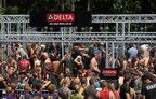 Delta Faucet earns GUINNESS WORLD RECORDS title for most people showering simultaneously at the Indiana Warrior Dash event on Saturday, June 27, 2015 in Crawfordsville, Ind. (Photo by Steven Mitchell/AP Images for Delta Faucet Company)