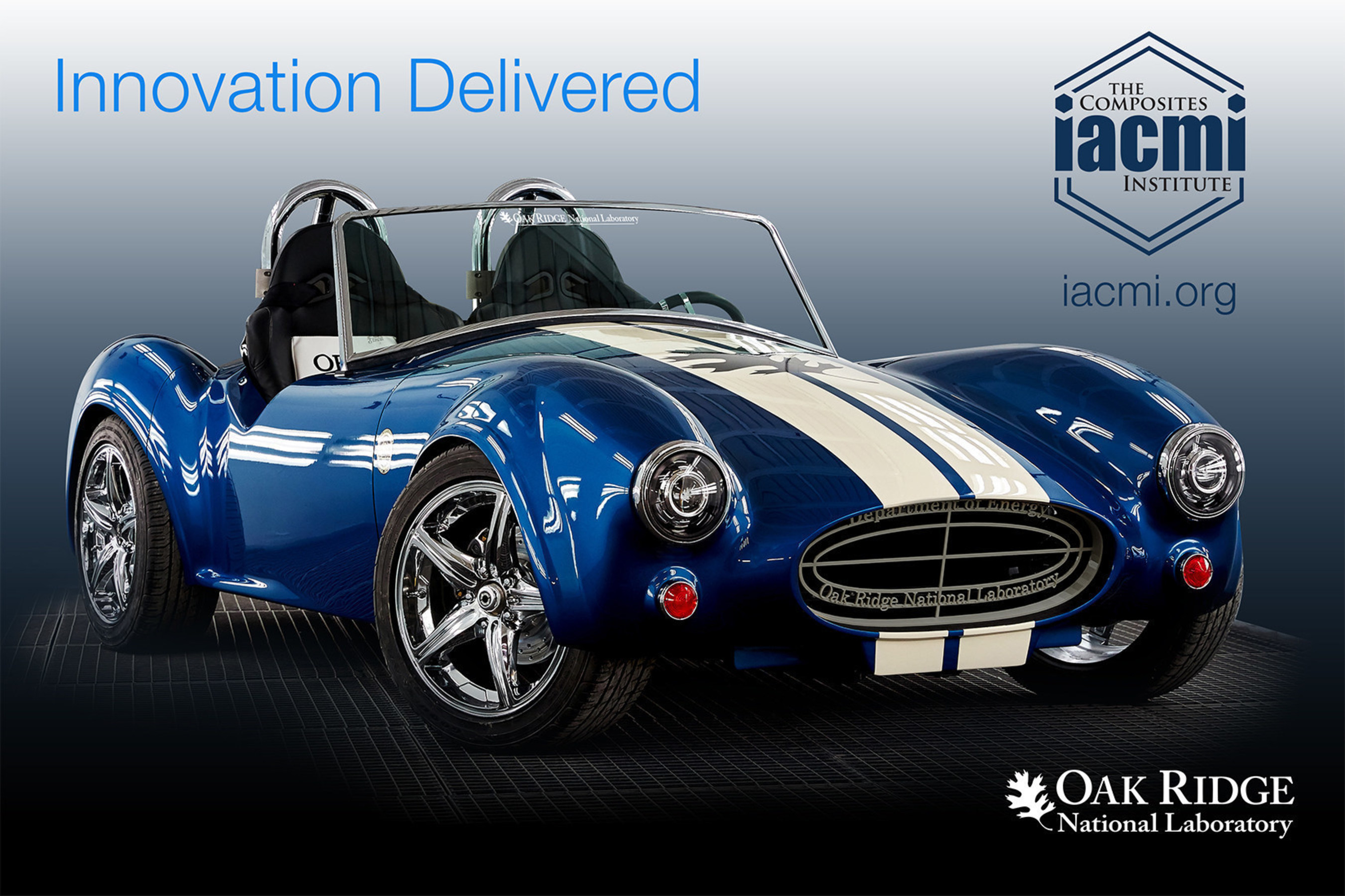 Global award recognizes IACMI-The Composites Institute, Oak Ridge National Laboratory and Partners for development of the innovative technology used to print the replica Shelby Cobra, the first of its kind.
