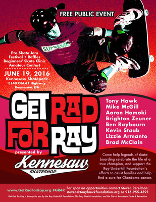 Get Rad For Ray brings the legends of skateboarding to Kennesaw, GA June 19, 2016. Photo: Grant Brittain